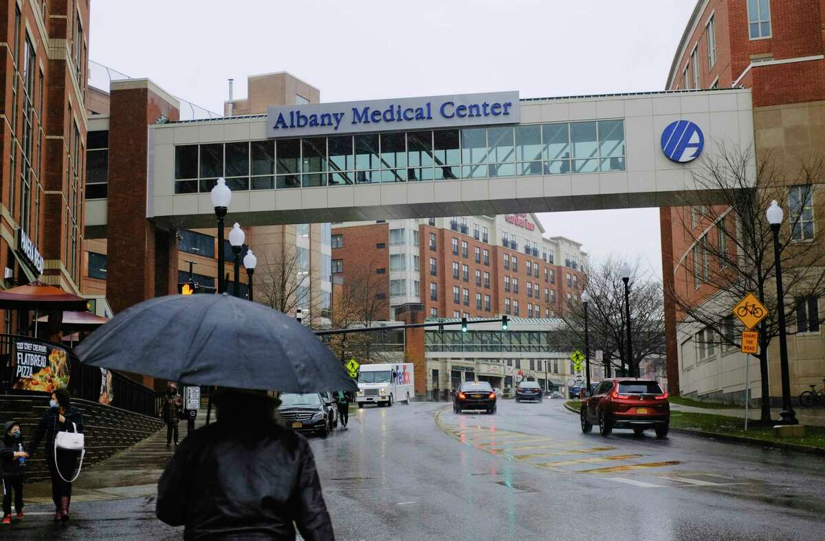 A view of Albany Medical Center on Monday, Nov. 30, 2020, in Albany, N.Y. (Paul Buckowski/Times Union)