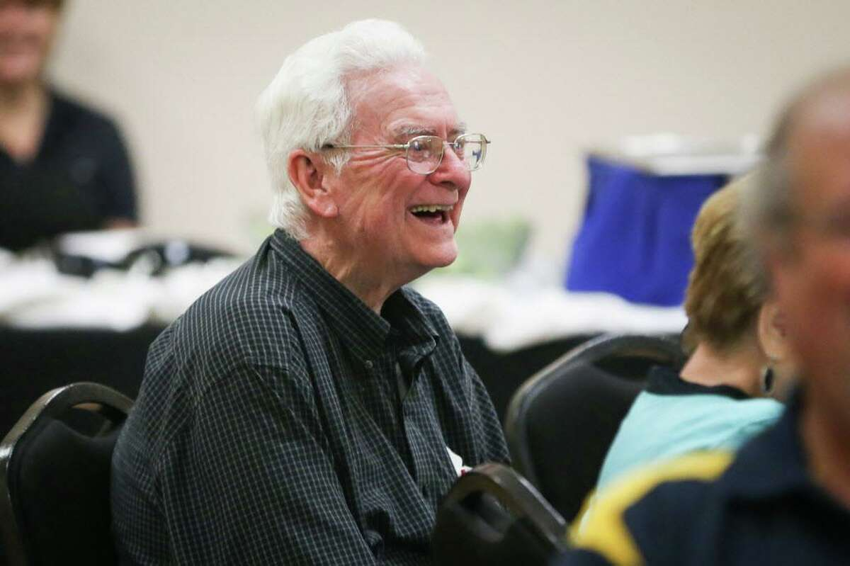 Conroe Rotarian Bert Lynch, past president 1973-1974, laughs during the 85th anniversary of The Rotary Club of Conroe in August 2017. Lynch died on Thanksgiving Day in Conroe. Services are Wednesday morning.