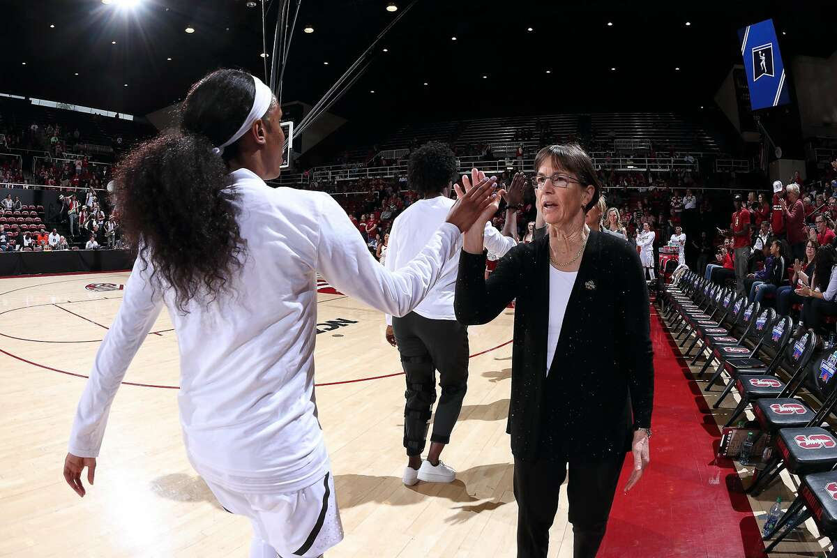 Stanford, CA - March 23, 2019: Stanford Women's Basketball wins over UC Davis, 79-54 in the first round of the NCAA Tournament at Maples Pavilion.