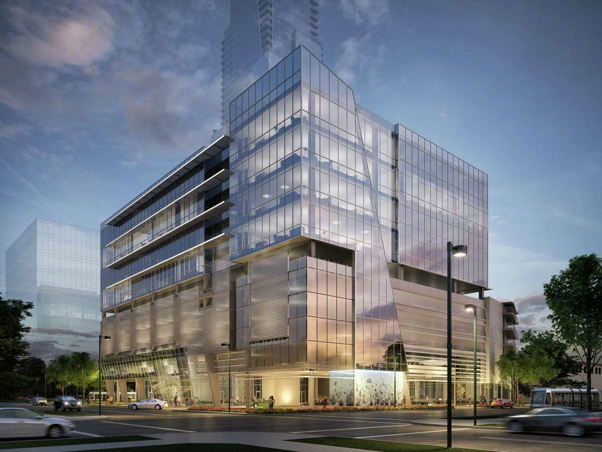 An artist's rendering of the southeast view of what will be Museo, a medical office building under construction at 5115 Fannin.