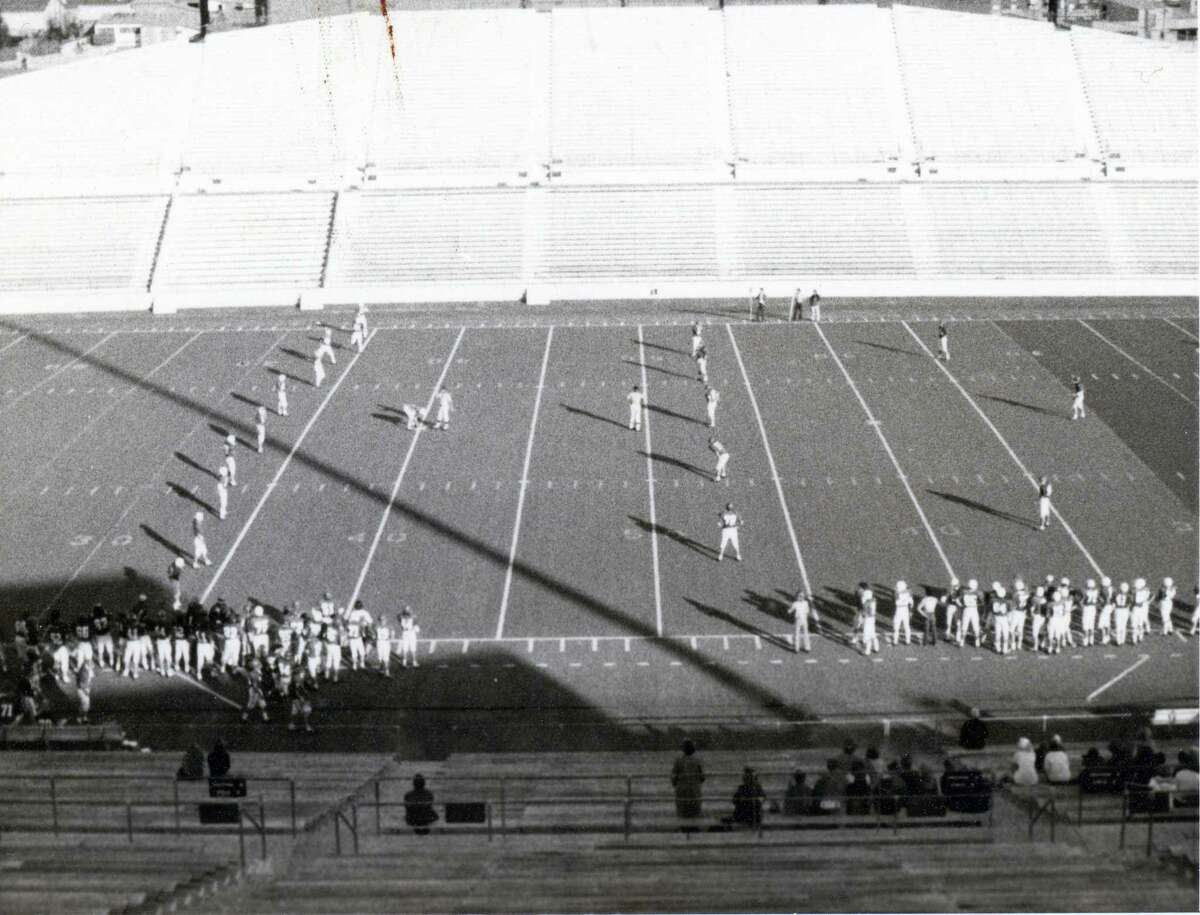 A football game is played at the newly-built Darrell Tully Stadium in Spring Branch ISD