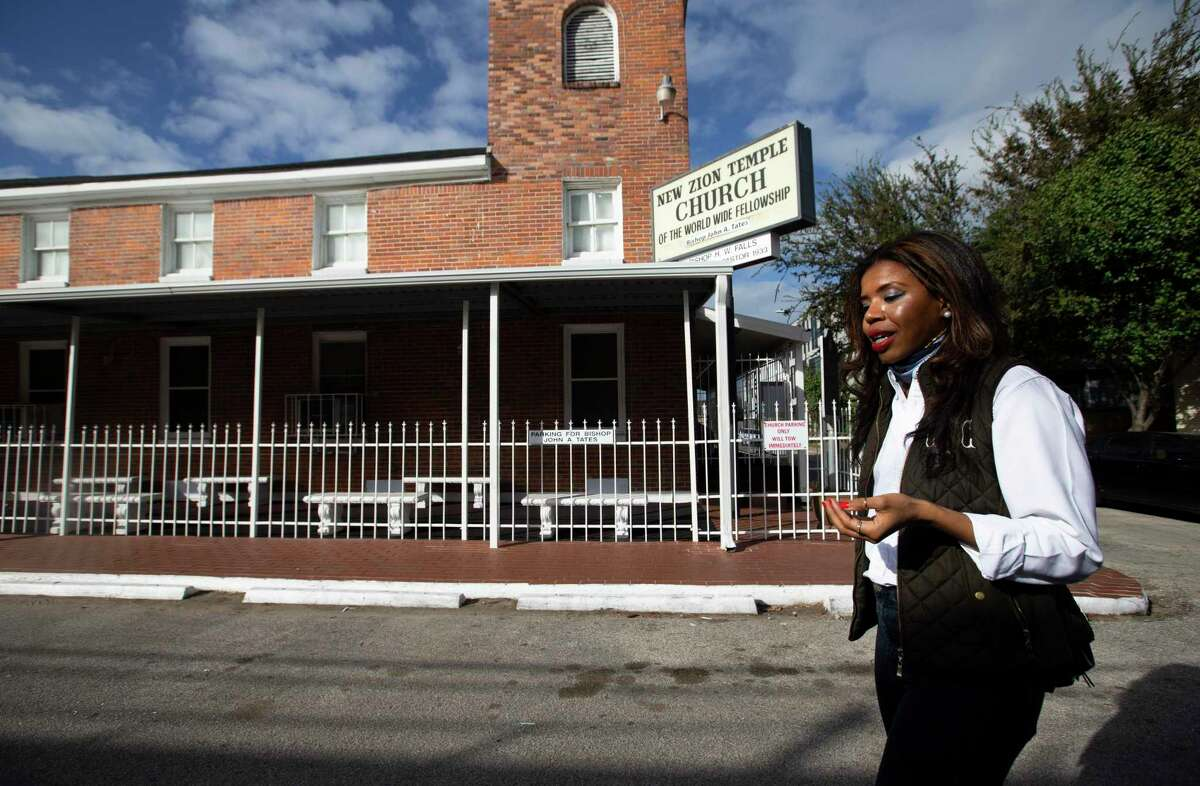 Houston native Claire Thielke takes a walk in Freedmen's Town Thursday, Nov. 19, 2020, in Houston. Thielkewas recently appointed an independent director for Zillow.