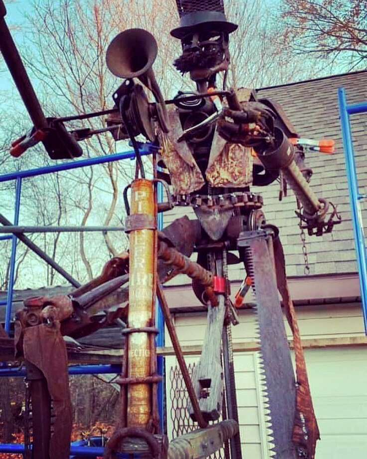 The Lamplighter is an interactive sculpture by artistsTyler and Ashley Voorhees that will be on display in downtown Manistee on River Street. (Courtesy Photo)