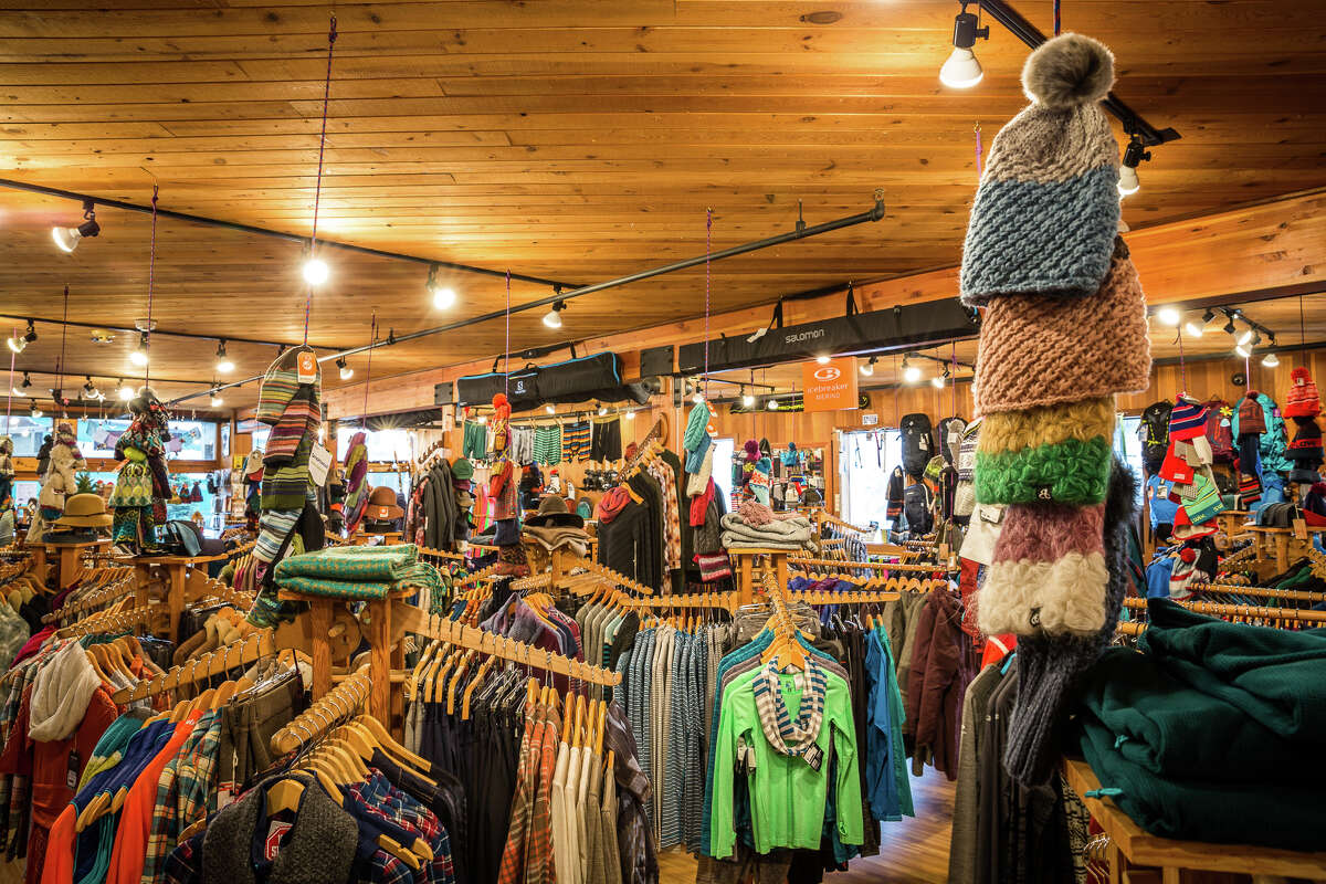 Mountain goods and a cozy atmosphere inside Alpenglow Sports.