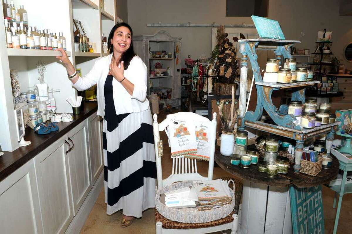 Portia Antonino in her gift boutique Pure Poetry on May 18, 2016.