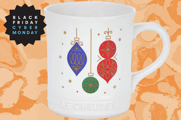 Noël Collection Ornaments Mug for $16 (normally $20) at Les Creuset.