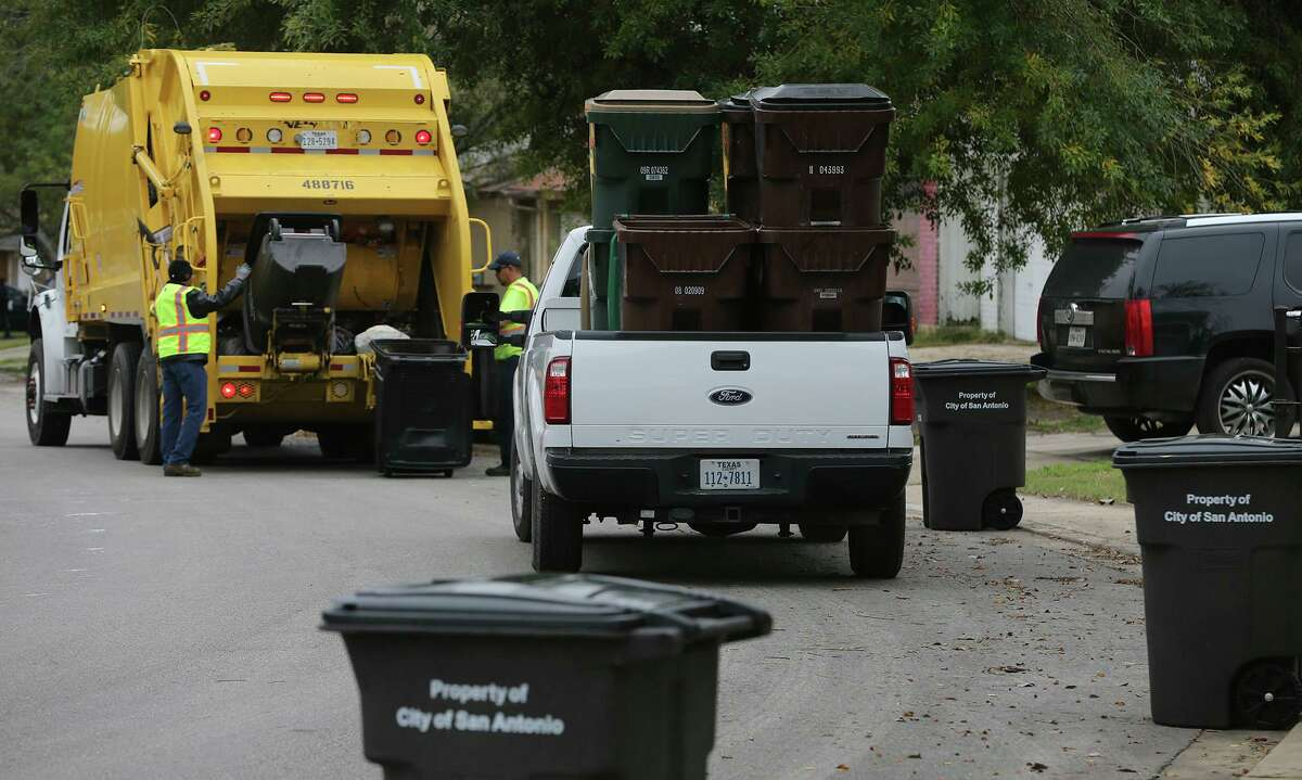 Garbage is collected as the city of San Antonio began a pilot program in 2015 in the unincorporated Bexar County neighborhood of Camelot II, which has about 600 homes. With the program soon to expire, commissioners on Tuesday will discuss an effort to solicit proposals from private haulers to serve Camelot II, as well as nearby Candlewood, Crownwood and the Glen - at least 3,500 homes.