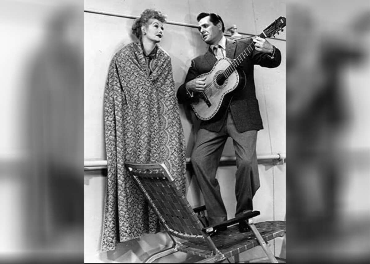 """1951: I Love Lucy Real-life comedy couple Desi Arnaz and Lucille Ball starred in """"I Love Lucy"""" as bandleader Ricky and his feisty, troublemaking wife Lucy. The show made the pair major Hollywood stars, and is generally regarded as one of the most influential sitcoms ever made."""