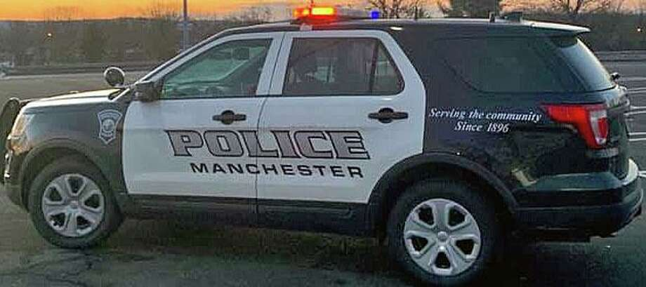 Two people who followed after a vehicle they believed to be stolen early Monday morning were shot at by the driver, Manchester police said. Photo: Manchester Police
