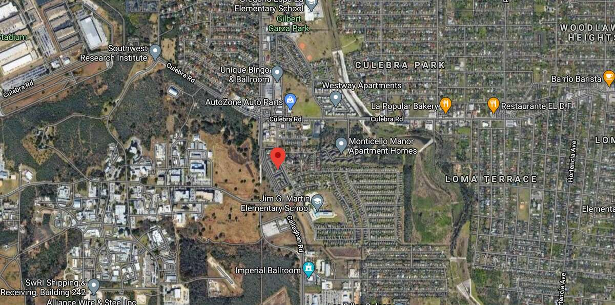 A 35-year-old man was shot and killed at a West Side apartment complex Monday night in the 1100 block of Callaghan Road. The map shows the location of the incident.