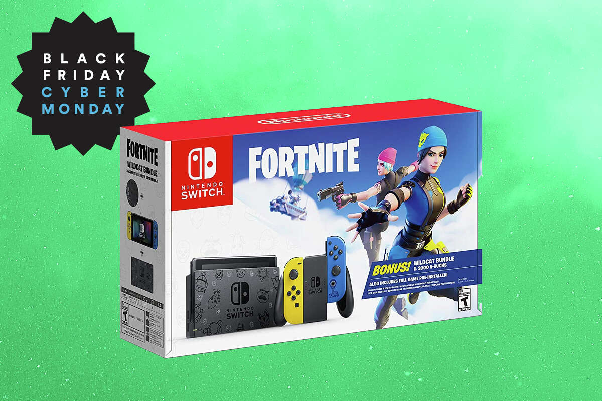 Nintendo Switch Fortnite Wildcat Bundle for $299 on Amazon