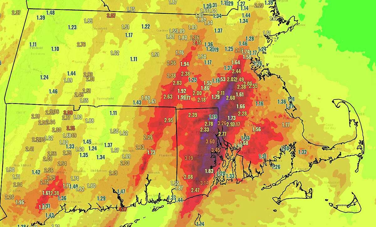 Here are the total rainfall amounts from our recent storm. Axis of heaviest rainfall impacted the I-95 corridor across CT, RI and eastern MA with locally 3 to 4 inches.