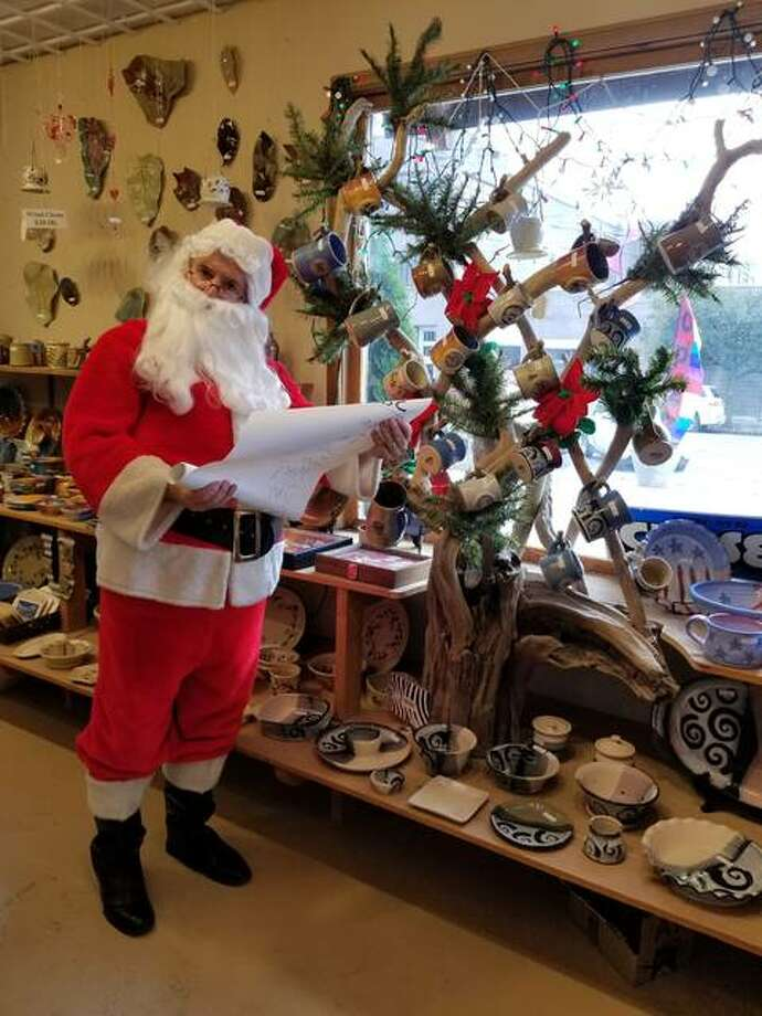 Santa at Mississippi Mud Pottery in Alton Photo: For The Intelligencer