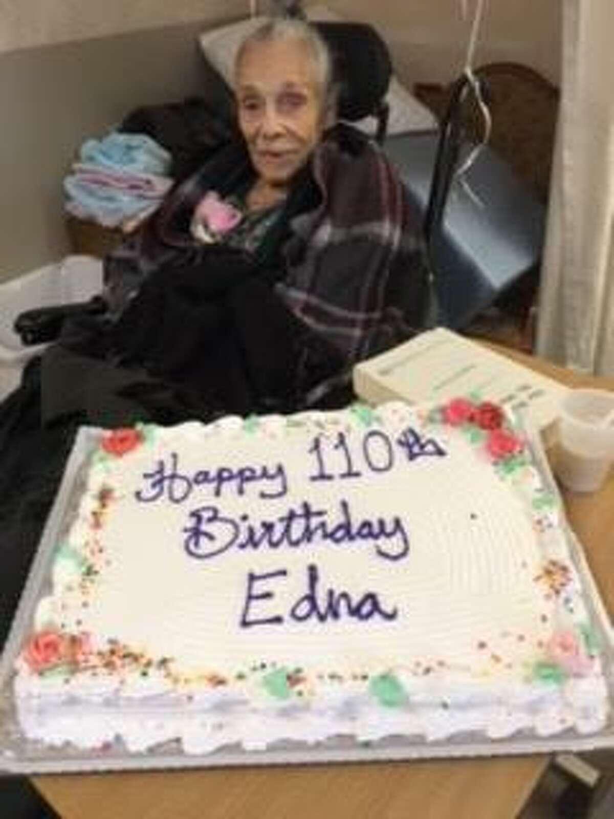"Edna McCabe, born Edna Mae Dawson, celebrated her 110th birthday Nov. 22, 2020, making her one of the rare ""supercentenarians"" in the world."