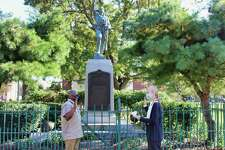 Mayor Nancy R. Rossi recently swore in Troy Tappin to the Board of Fire Commissioners of the City of West Haven Fire Department Allingtown, at the World War I Armistice Memorial on the Green.
