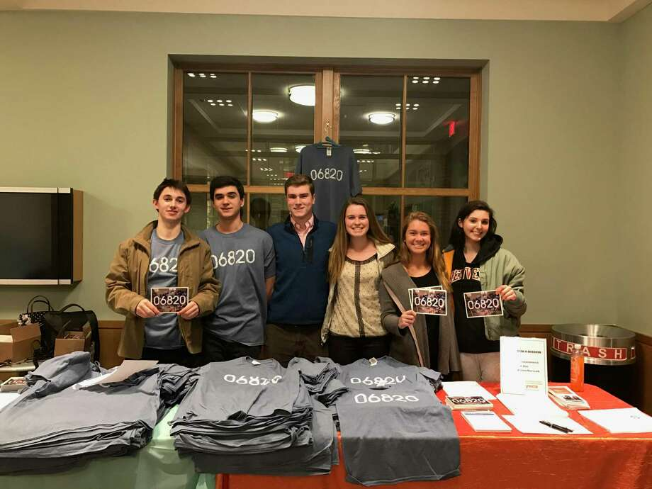 Harrison Gil, Chris Magnusson, Ryan Jones, Emma Dahlquist, Kallie Coughlin and Grace Feingold. Darien High senior Reeve Boeckmann writes of how she wanted one of these t-shirts and what it has come to mean. Photo: Contributed /