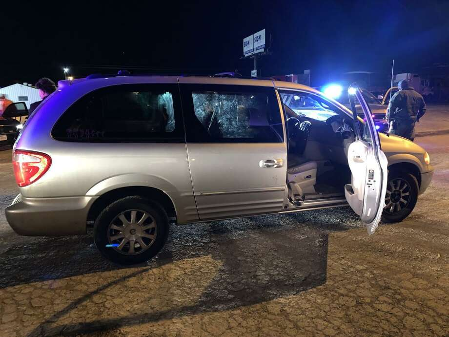 U.S. Border Patrol agents said that two individuals were transporting seven immigrants in this minivan. Photo: Courtesy Photo /U.S. Border Patrol