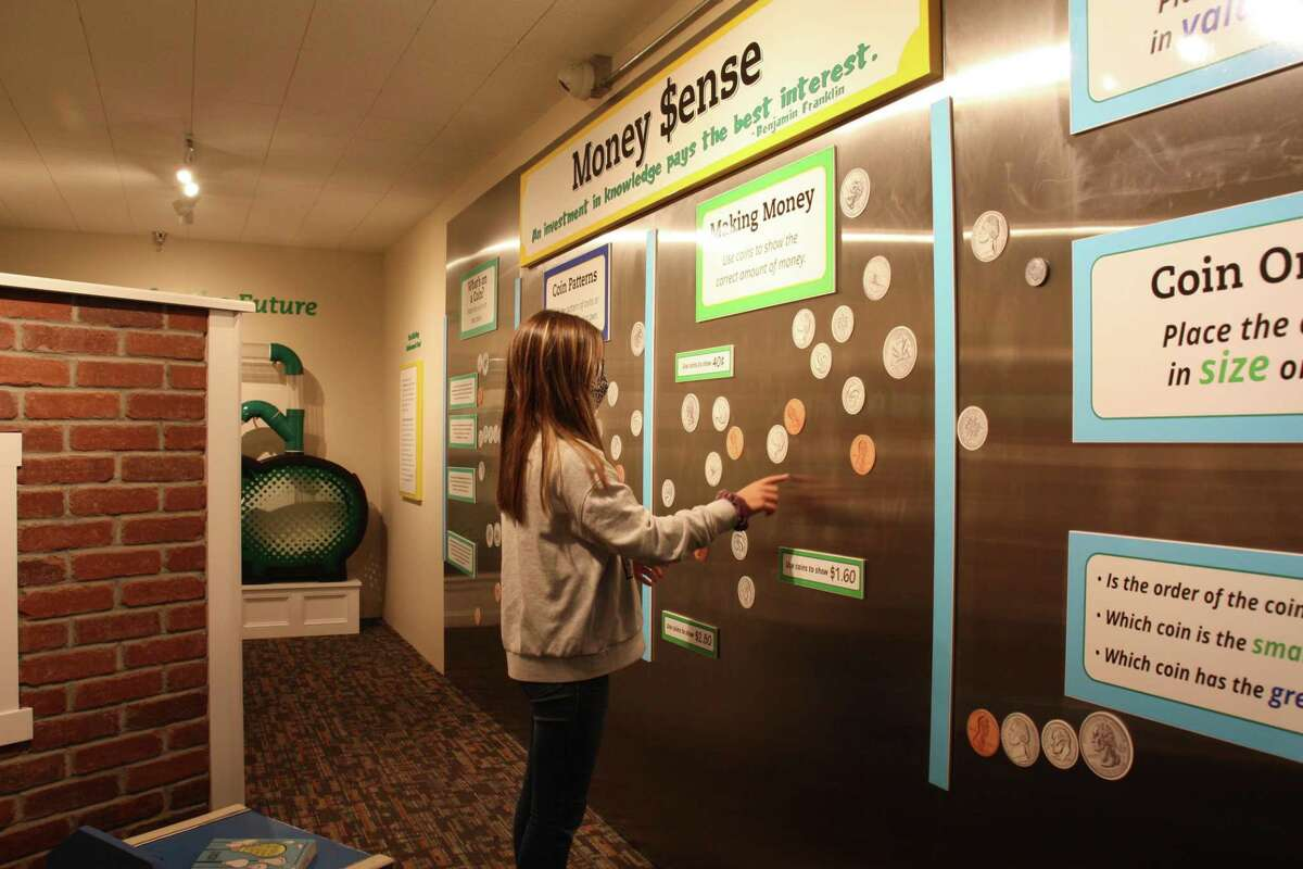 A new bank exhibit, developed with support from Torrington Savings Bank, is in KidsPlay Children's Museum main gallery. It was originally built as a bank and is housed in an original vault, which once held safe deposit boxes.