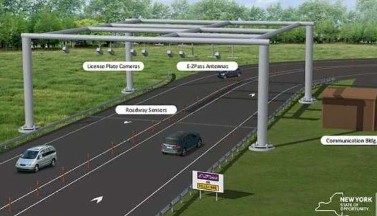 The Thruway's new cashless tolling system relies on overhead gantries with sensors and cameras instead of toll booths.