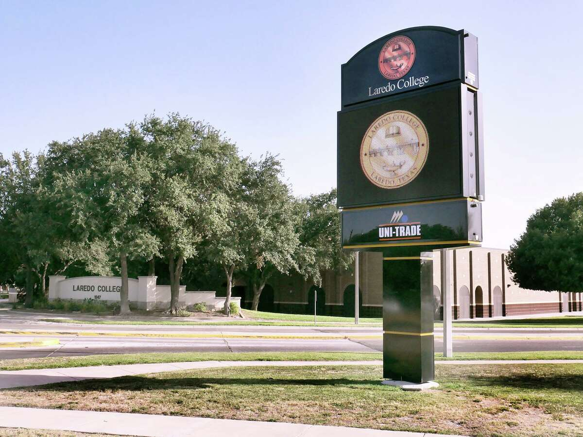 View of the new digital sign at the Laredo College Fort McIntosh campus as seen Tuesday, July 30, 2019.