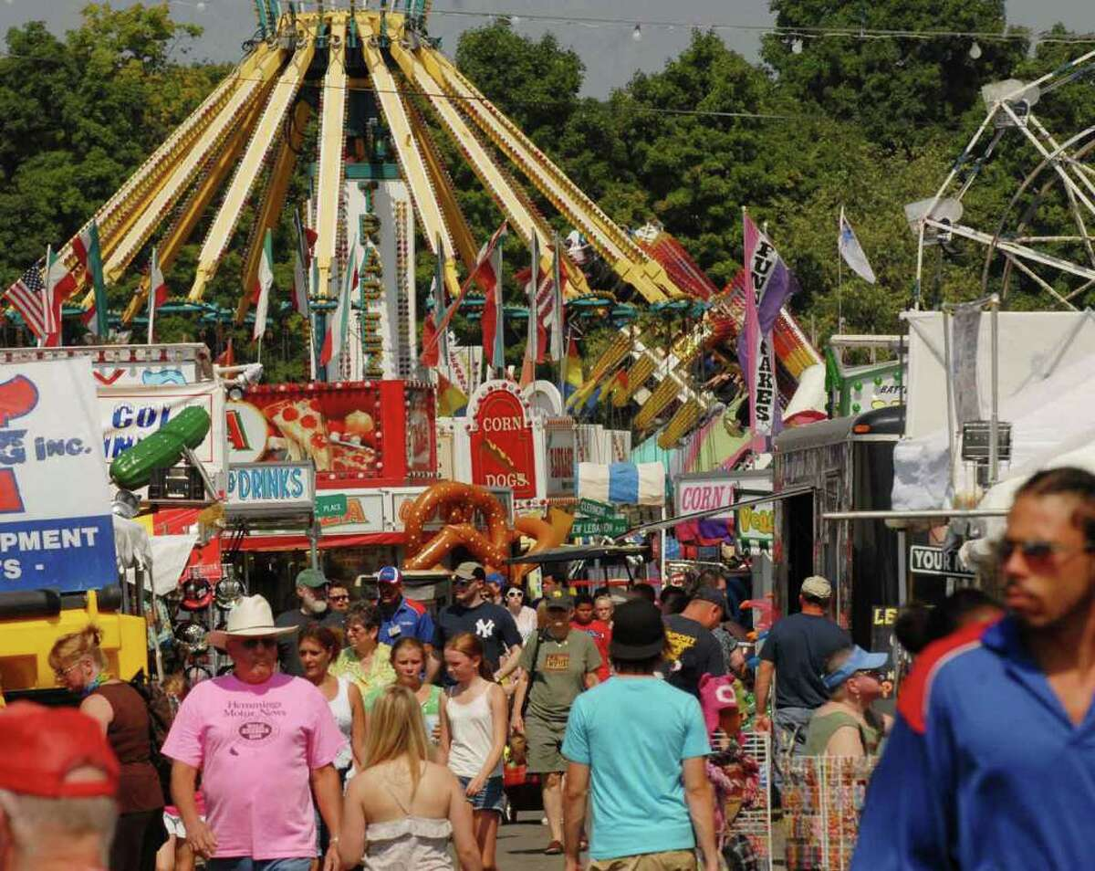 The midway at the Columbia County Fair in Chatham on Thursday, Sept. 2, 2010. ( Michael P. Farrell / Times Union )