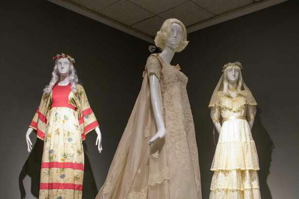 'Betrothed: 250 Years of Wedding Fashion' exhibit as seen Tuesday, Dec. 1, 2020 at the Ellen Noel Art Museum. Jacy Lewis/Reporter-Telegram