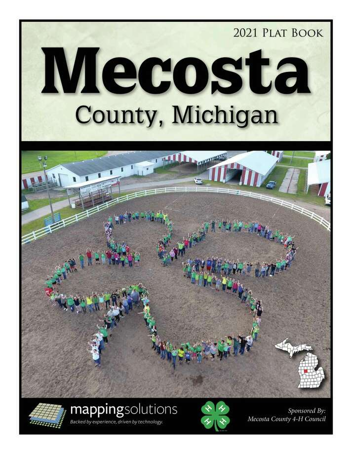 Pictured is the cover of the 2021 Mecosta County Plat books, which will go on sale starting Monday, Dec. 5. The 2021 editions can be purchased atBig Rapids Farm and Garden Supply or The Mecosta County Building and Zoning Department. (Courtesy photo)