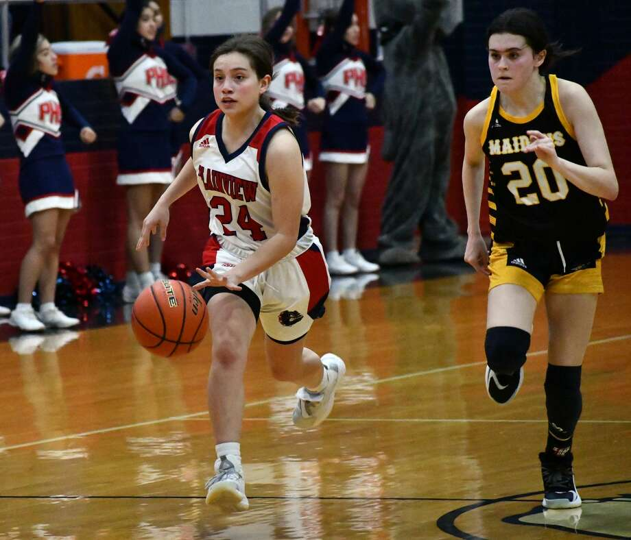 The Plainview girls basketball team rolled past Seminole 77-57 in a non-district girls basketball game on Dec. 1, 2020 in the Dog House at Plainview High School. Photo: Nathan Giese/Planview Herald