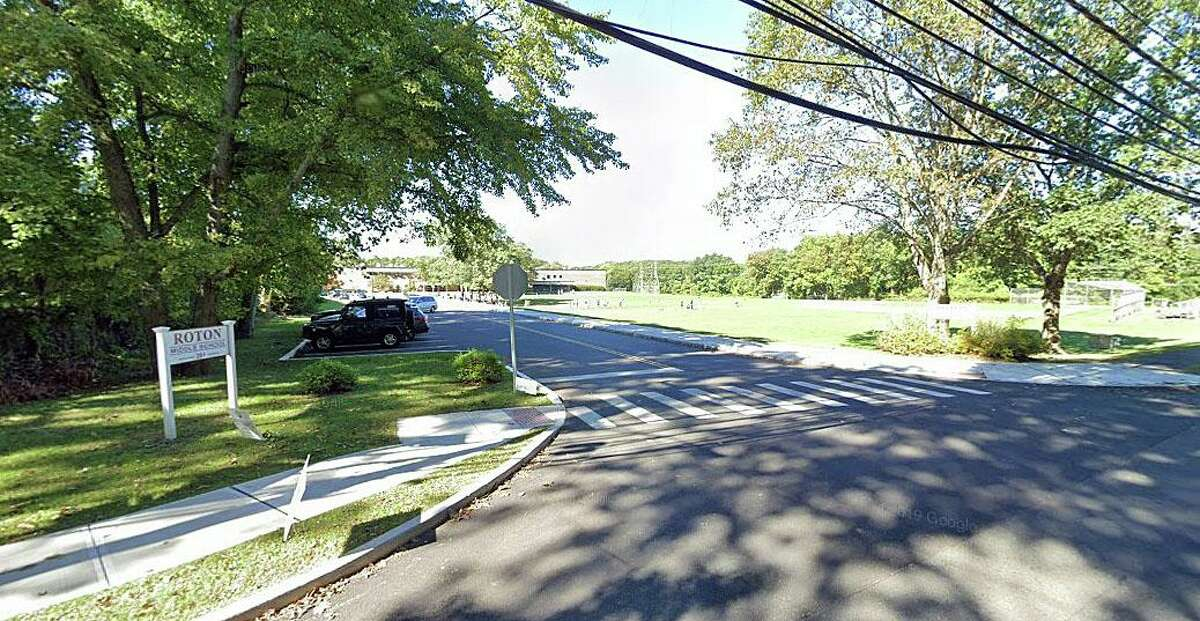 A Google Streetview of the Roton Middle School entrance in Norwalk, Conn. The school switched to a remote scheduled on Wednesday, Dec. 2, 2020. It will continue through Dec. 11, with in-person classes expected to resume Dec. 14.