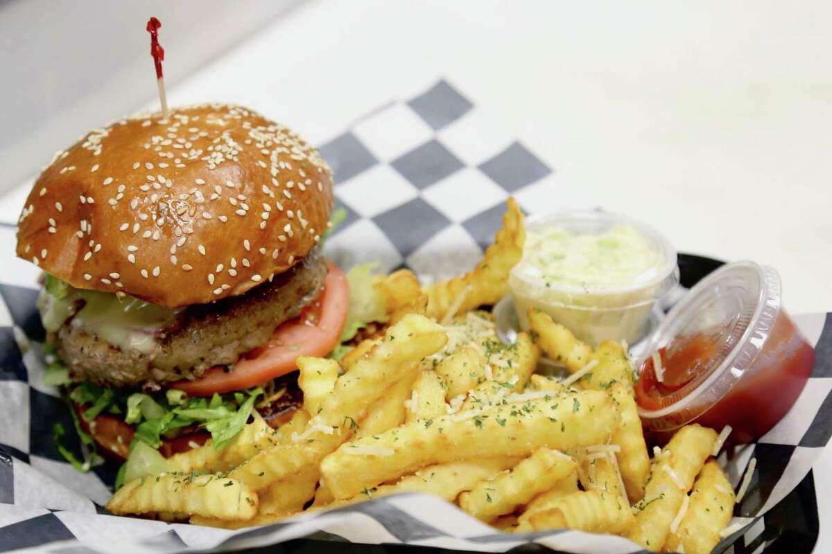 A burger and truffle fries at Burger Boss, opened in September on Main Avenue in Norwalk by owner Domenick Pisano Jr.