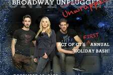 """ACT of CT presents """"Broadway Unwrapped,"""" a one-hour livestreamed event that gives viewers an entertaining behind-the-scenes look at what goes into presenting musicals at this popular Ridgefield venue. Featuring songs and scenes from ACT of CT productions, it takes place Dec. 12 at 8 p.m. From left, ACT of CT's Bryan Perri (music supervisor), Katie Diamond (executive director) and Daniel C. Levine (artistic director)."""