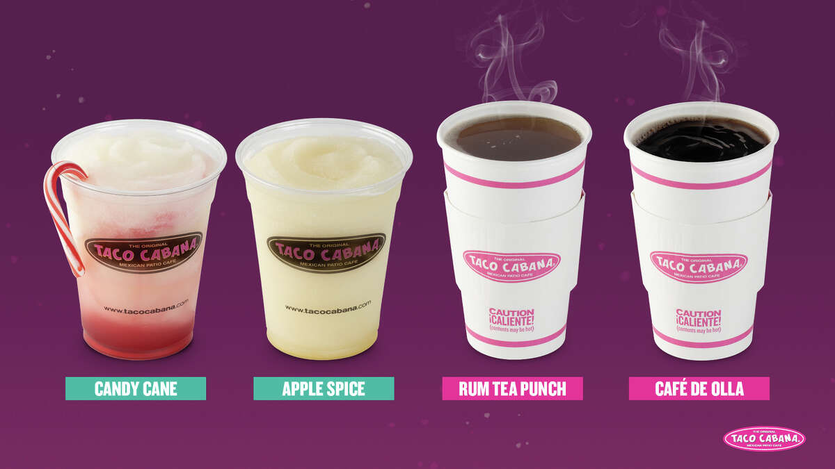 Taco Cabana announced their lineup of new holiday drinks.