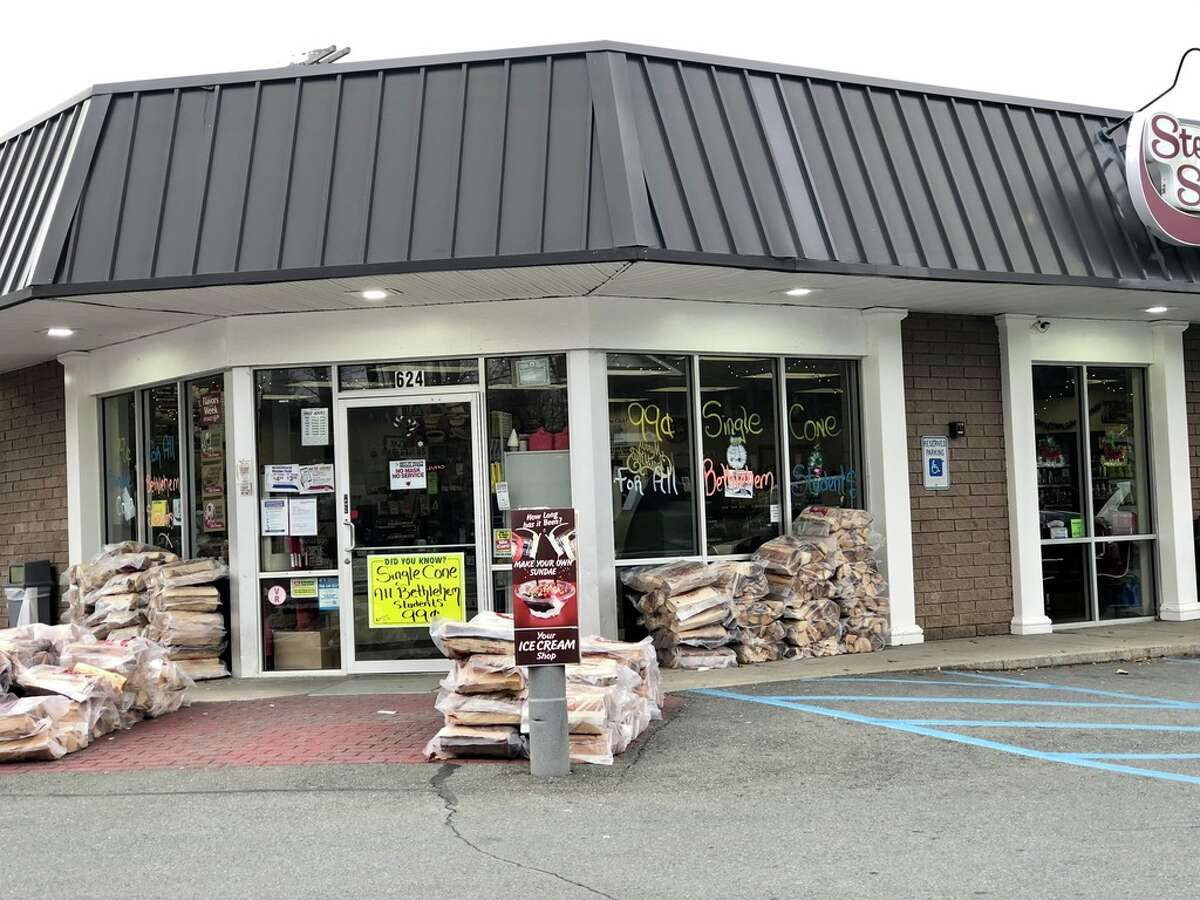 The Stewart's Shops store in Delmar at the corner of Delaware and Elm avenues. Stewart's wants to tear down the current building and construct a much larger one with gas pumps. The company has an agreement to buy the parcel next door to expand.