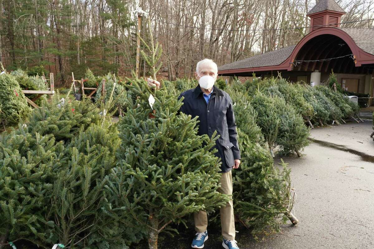 Exchange Club member Marty McLaughlin was at Kiwanis Park early to get his own tree on  Tuesday, Dec. 1, 2020.