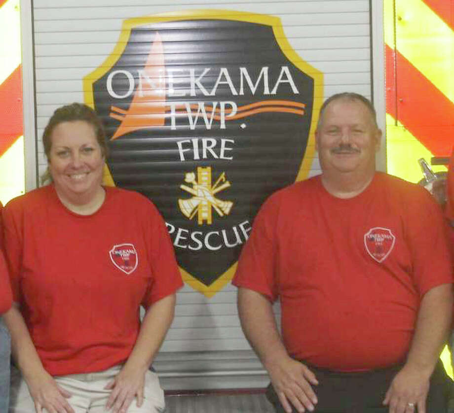 Shelli and Rob Johnson own Papa J's Ice Cream and Eatery. They are also active members of the Onekama Fire and Rescue Department. Photo: File Photo
