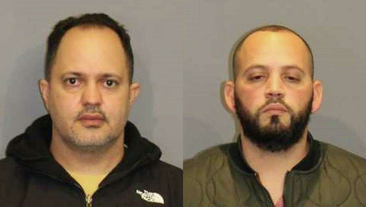 Danbury residents Cesar Jose Vasquez, left, and Nilo Antonio Espinal, right, were arrested on illegal gambling charges Nov. 18, 2020.