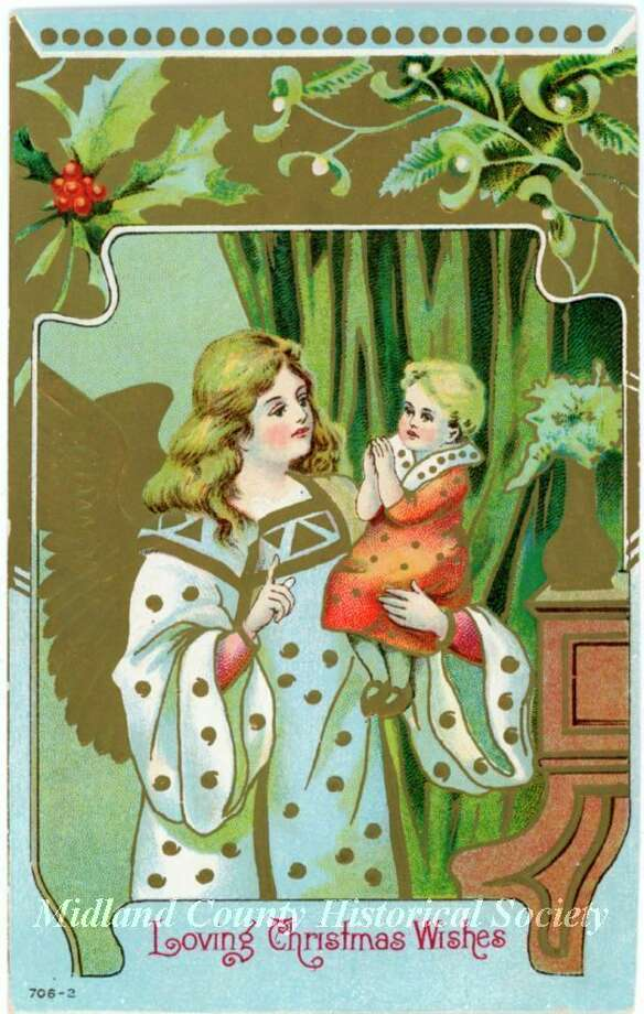 Christmas card addressed to Midland in 1910. (Photo provided/Midland County Historical Society)