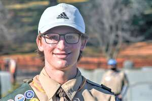Middletown High School senior Nathan Robillard, 17, a member of Scout Troop 72, completed his Eagle Scout project over the weekend. Nearly 30 volunteers working in two shifts helped him catalog more than 700 graves at the Adath Israel Cemetery on Pine Street. His grandfather, great-grandparents and other family members are buried there.
