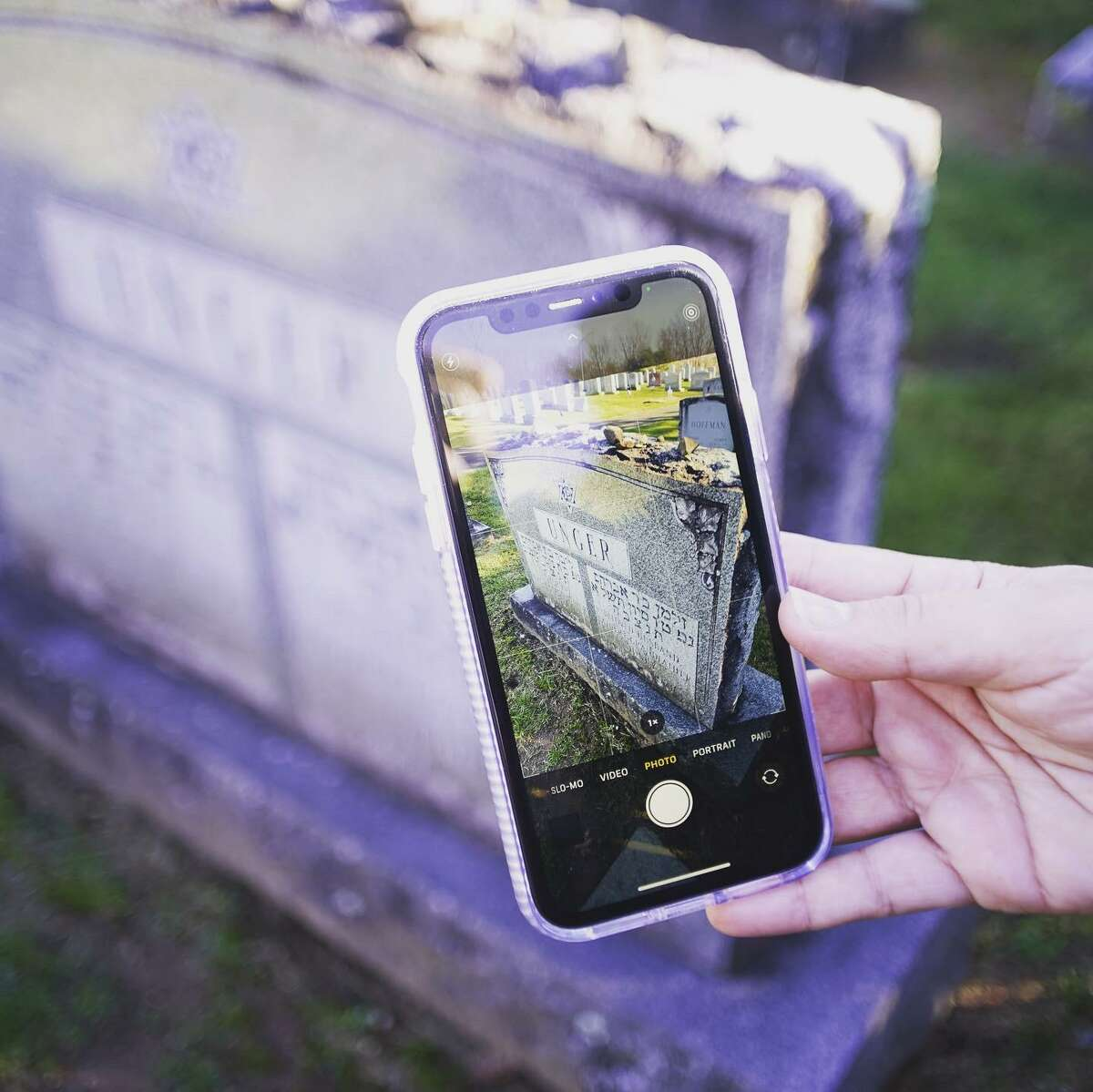 Middletown High School senior Nathan Robillard, a member of Scout Troop 72, completed his Eagle Scout project by photographing and uploading 700 gravestones, using the X app, at the Adath Israel Cemetery on Pine Street.