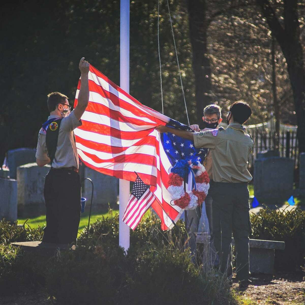 Middletown High School senior Nathan Robillard, 17, of Scout Troop 72, completed his Eagle Scout project over the weekend. Nearly 30 volunteers helped him catalog more than 700 graves at the Adath Israel Cemetery on Pine Street.
