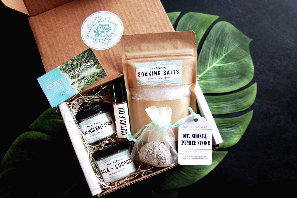 Local, small business Coast and Clearing doles out myriad self-care products by working individually with other small businesses and craftspeople to source ingredients. Upwards of 90% of their base materials come from local, family-owned businesses along the west coast to curate eco-conscious care items that are organic, vegan and fair trade. Among their current partners include second and third generation woodworkers in Bend, Oregon. For the holiday season, their bestseller remains the ManiPedi Box, including a pumice stone from Mt. Shasta's last eruption in 1786. Also included in the box is that of pure soaking salts, salt scrubs infused with lavender and tea tree, rose and almond or bergamot and orange, scentless shea and coconut body butter, and frankincense with lemon balm cuticle oil - all of which is packed inside a natural shredded birch gift box, which can be reused and/or composted. Gift boxes run $50 on their website. With the purchase of a bubbly bath bomb or two, a purchase of $60 will earn you free shipping.
