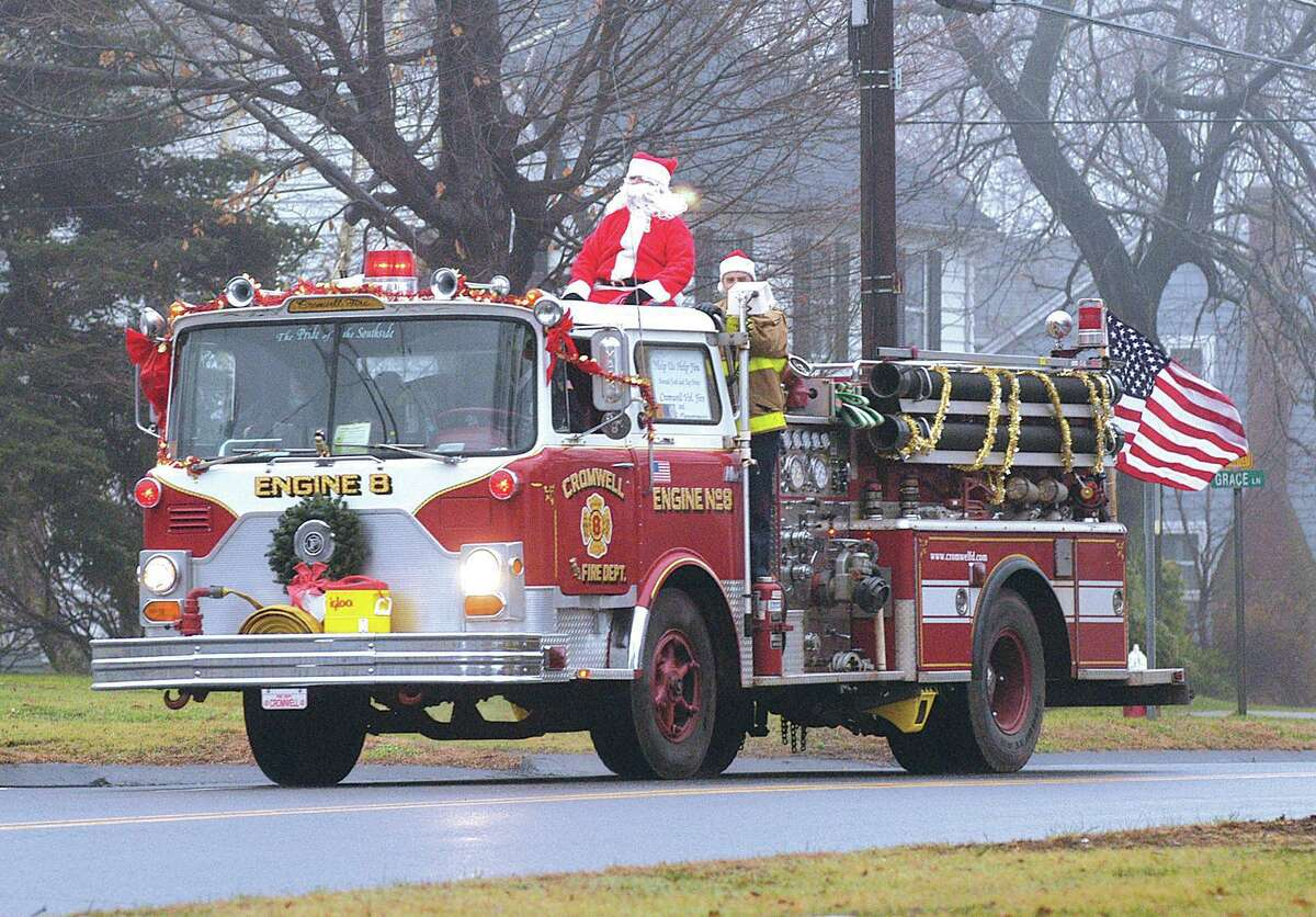 The Cromwell Fire Department visits local streets during a past Christmas season.