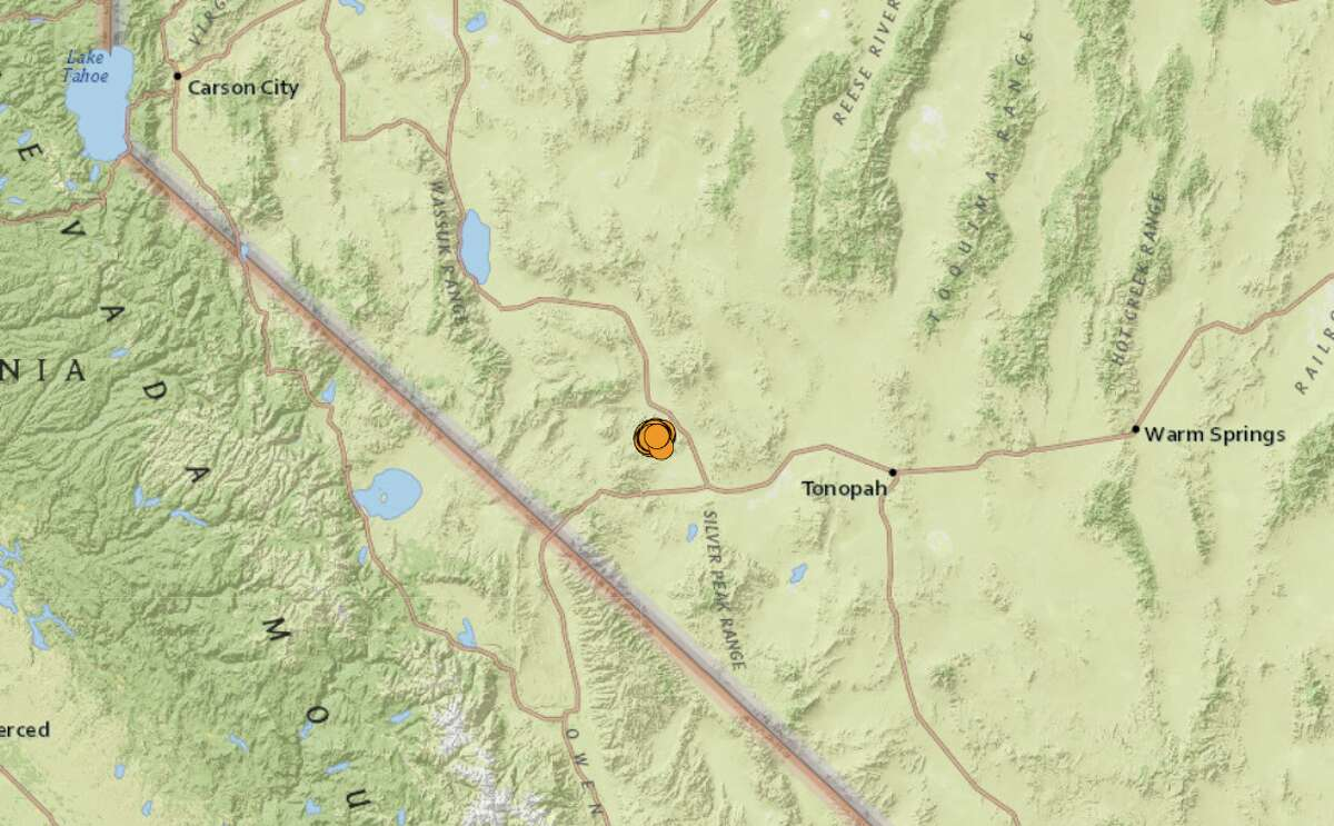 A magnitude 5.1 earthquake hit a remote corner of western Nevada on Dec. 1, 2020, and dozens of aftershocks have followed.