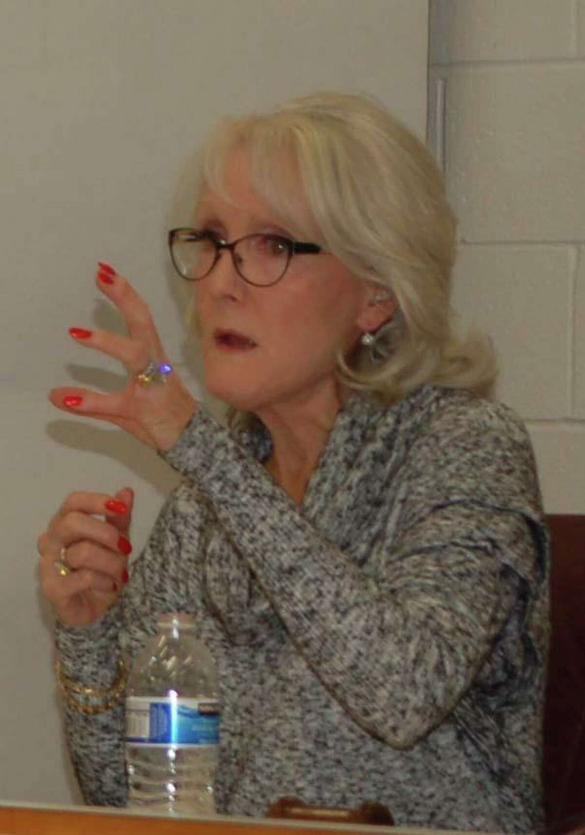 Rebecca Mucchetti was elected for another term as chairwoman of Ridgefield's Planning and Zoning Commission on Tuesday, Dec. 2, 2020. She's shown at a commission meeting in 2014.