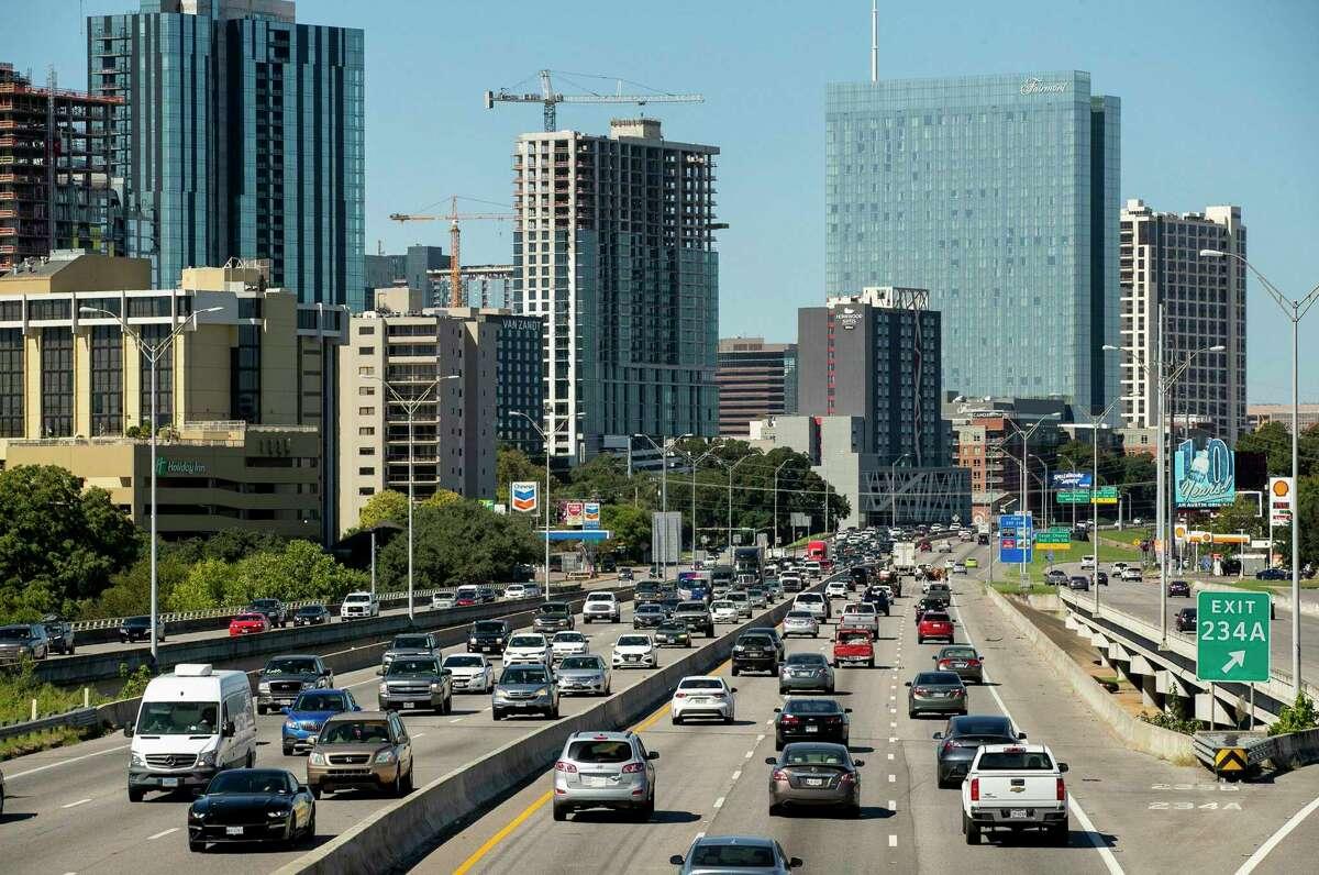Traffic flows on I-35 on Wednesday September 30, 2020.