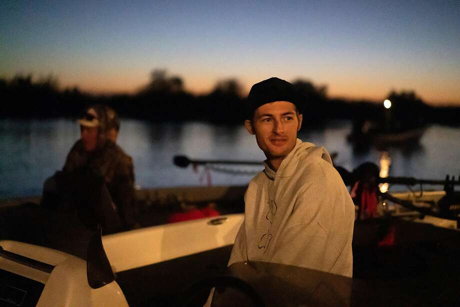 Fisherman Garrett Bradshaw waits for a bass tournament to start on an early morning off Bethel Island in the delta last year. Bradshaw won the contest, with five bass that totaled more than 24 pounds, including an 8-pounder. Photo: Paul Kuroda / Special To The Chronicle 2019