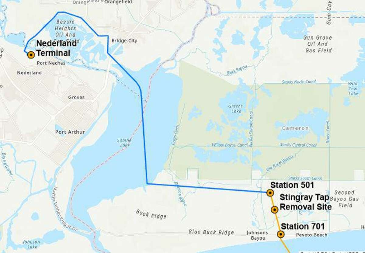 The Blue Marlin deep water crude oil export terminal is being proposed by Energy Transfer in the Gulf of Mexico. It would allow very large crude carriers (VLCCs) to connect to its pipeline system in Cameron, Louisiana and -ultimately- the Nederland terminal