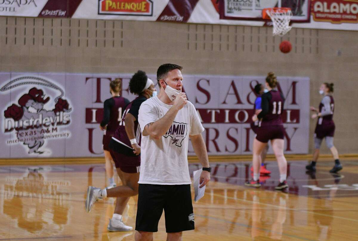 Head coach Nate Vogel and the TAMIU women's basketball team beat a pair of Division I opponents in their first two games of the season.
