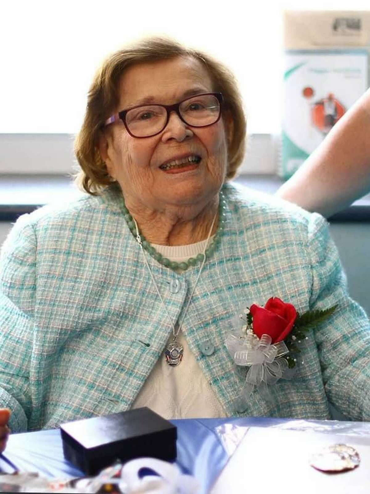 """Margaret A. """"Peggy"""" Sansone was born in New York City on July 21, 1927, daughter of Charles and Margaret (McLoughlin) Brumaghin. She died peacefully in her home on Nov. 25, 2020. She was 93."""