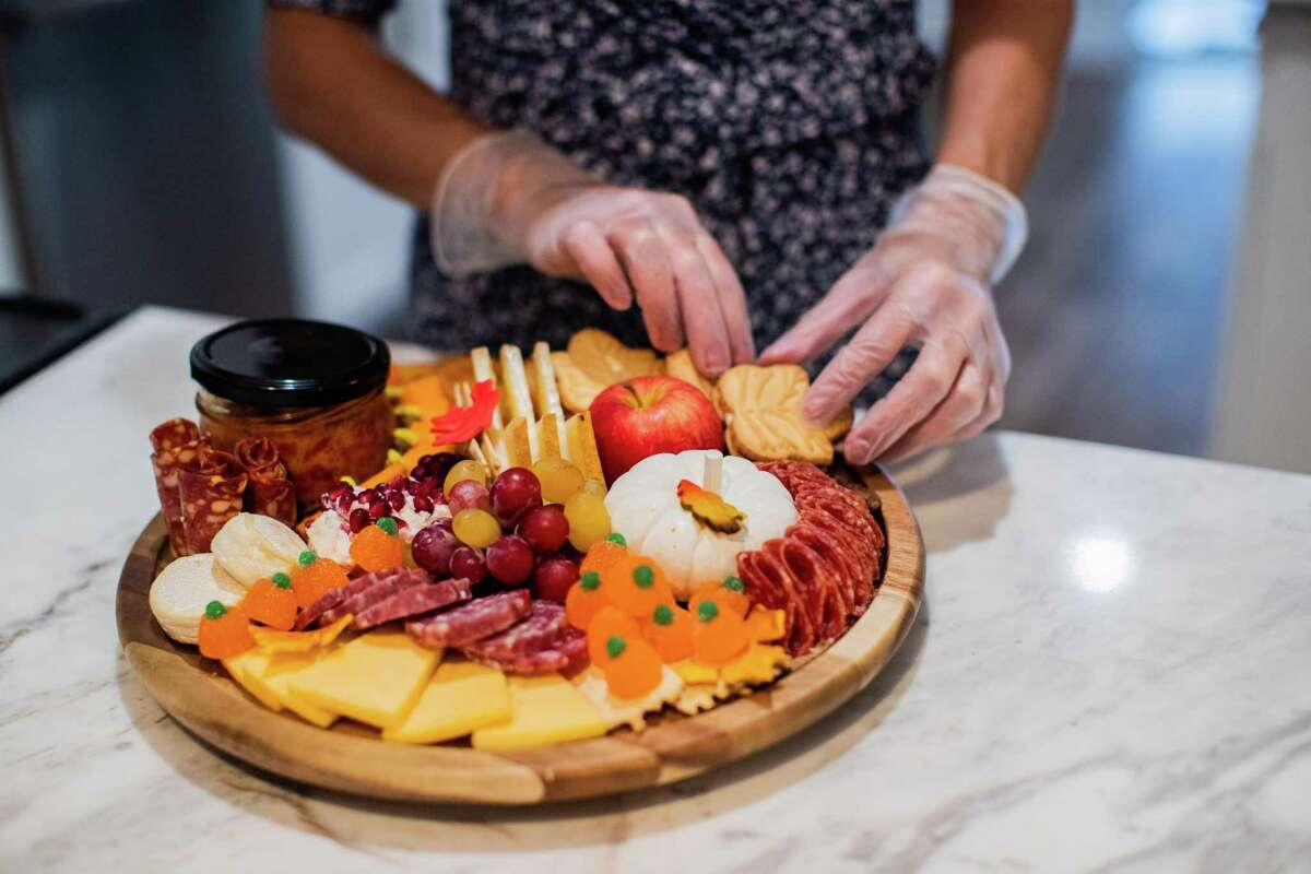 Tanya Khalaf's cheese boards always include something sweet.